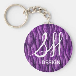 Modelo púrpura llavero redondo tipo pin