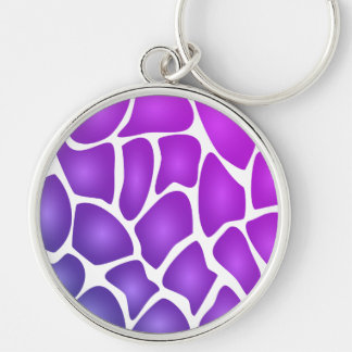 Modelo púrpura llaveros personalizados