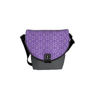 Modelo púrpura medio del fractal bolsas de mensajería