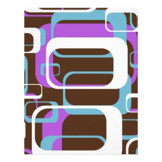 Modelo púrpura membrete personalizado