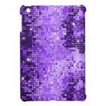 Modelo púrpura metálico de MirrorsBall de la mirad iPad Mini Cárcasas