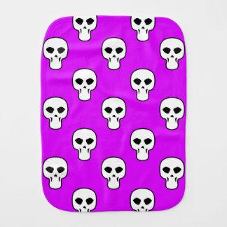 Modelo púrpura negro, blanco, de neón de los paños de bebé