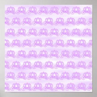 Modelo púrpura pálido de princesa Carriages Impresiones