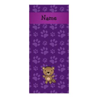 Modelo púrpura personalizado de la pata del castor lona personalizada