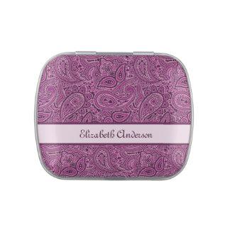 Modelo púrpura personalizado de Paisley del ciruel