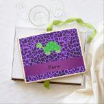 Modelo púrpura personalizado del leopardo de la