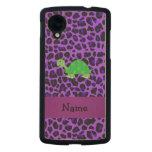 Modelo púrpura personalizado del leopardo de la funda de nexus 5 carved® de arce