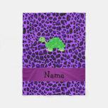 Modelo púrpura personalizado del leopardo de la manta de forro polar