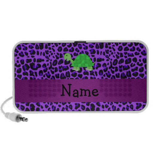 Modelo púrpura personalizado del leopardo de la to iPhone altavoces