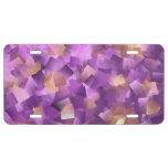 modelo púrpura placa de matrícula