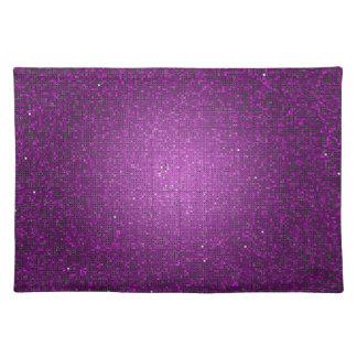Modelo púrpura Placemat del Glitz del disco de la  Manteles Individuales