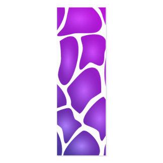 Modelo púrpura plantillas de tarjetas personales