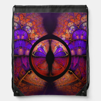 Modelo púrpura psicodélico del fractal de la mochilas