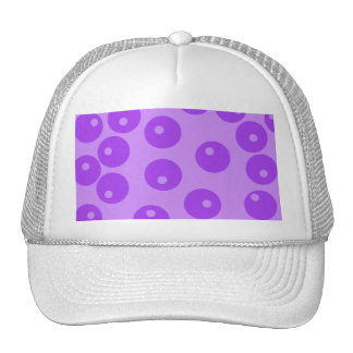 Modelo púrpura retro de los círculos gorras de camionero