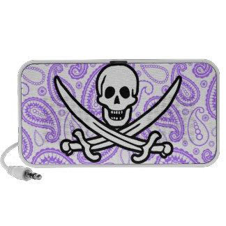 Modelo púrpura Rogelio alegre de Paisley Pirata Altavoz