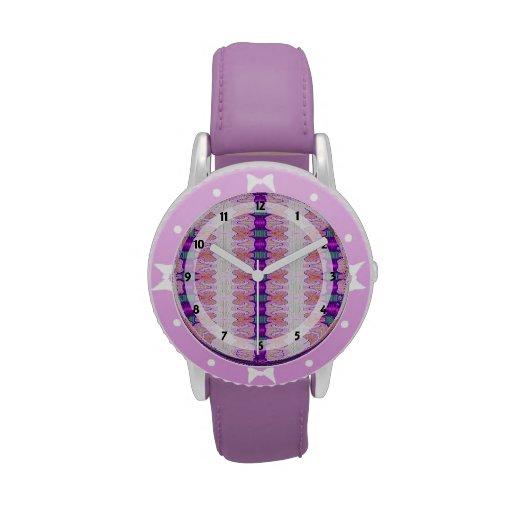 modelo púrpura rosado bonito de la cinta