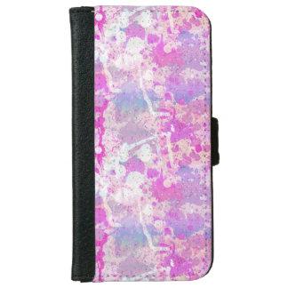 Modelo púrpura rosado del chapoteo de la pintura carcasa de iPhone 6