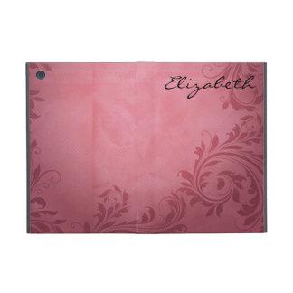 Modelo púrpura rosado del damasco iPad mini cobertura