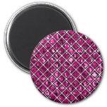 Modelo púrpura rosado del diamante imán para frigorífico