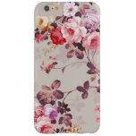 Modelo púrpura rosado elegante de los rosas del funda de iPhone 6 plus barely there