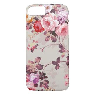 Modelo púrpura rosado elegante de los rosas del funda iPhone 7