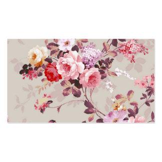 Modelo púrpura rosado elegante de los rosas del vi tarjeta de visita