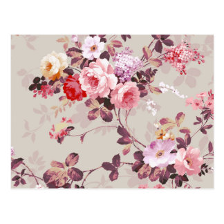 Modelo púrpura rosado elegante de los rosas del vi tarjetas postales
