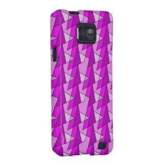 modelo púrpura rosado gráfico galaxy s2 funda