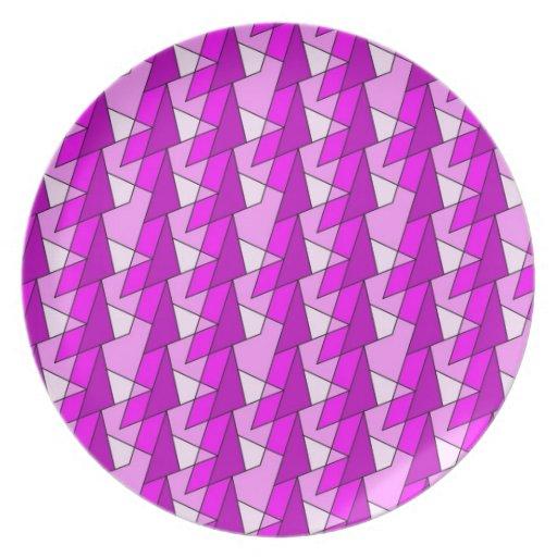 modelo púrpura rosado gráfico plato