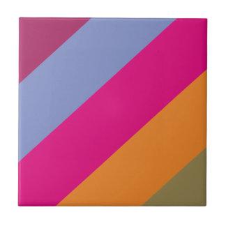 Modelo púrpura rosado intrépido de las rayas del azulejo cuadrado pequeño
