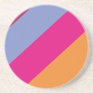 Modelo púrpura rosado intrépido de las rayas del posavasos manualidades