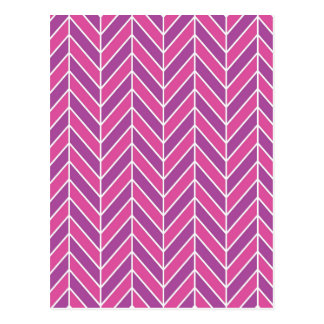 Modelo púrpura rosado simple de la raspa de tarjeta postal
