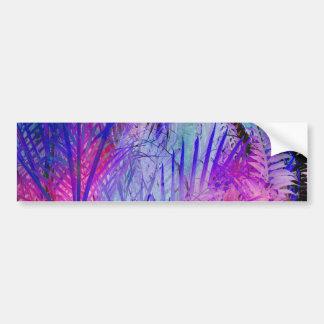 Modelo púrpura rosado tropical de las palmeras de pegatina para auto
