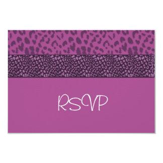 """Modelo púrpura RSVP del puma Invitación 3.5"""" X 5"""""""