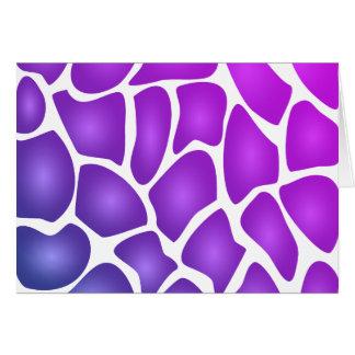 Modelo púrpura tarjeta
