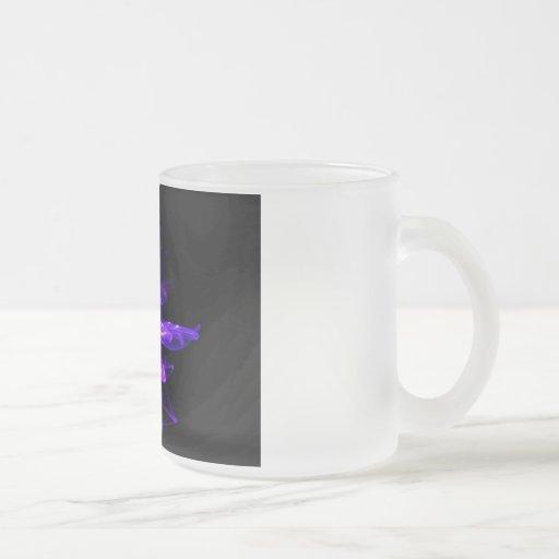 Modelo púrpura taza