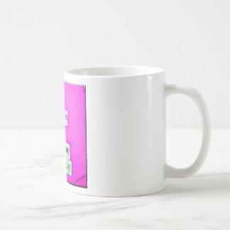 Modelo (púrpura) taza básica blanca