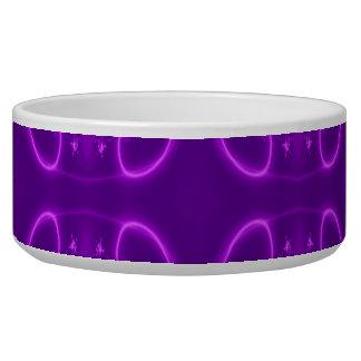 Modelo púrpura tazones para perro