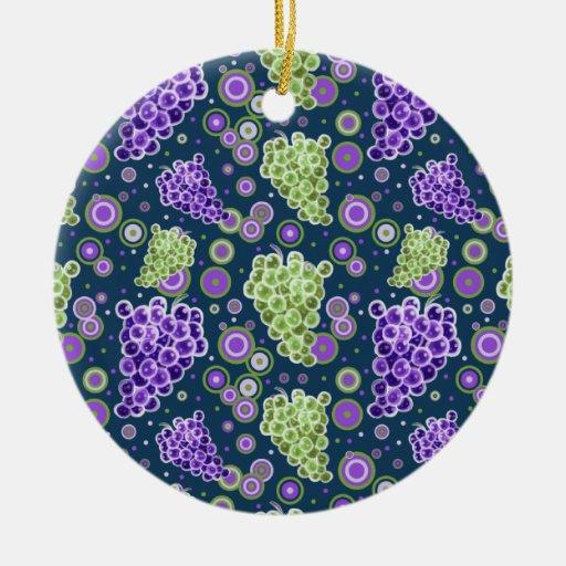 Modelo púrpura verde de las uvas ornatos