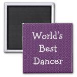 Modelo púrpura W1969 del mejor bailarín del mundo Imán Para Frigorífico