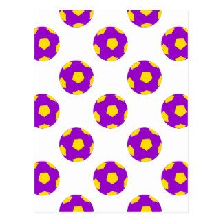 Modelo púrpura y amarillo del balón de fútbol postal