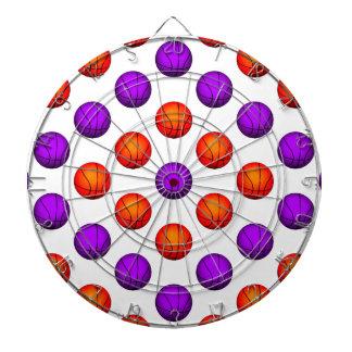 Modelo púrpura y anaranjado del baloncesto tabla dardos