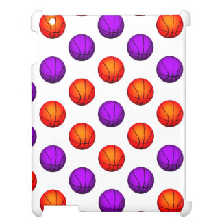 Modelo púrpura y anaranjado del baloncesto