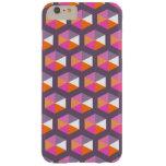 Modelo púrpura y anaranjado geométrico del funda de iPhone 6 plus barely there