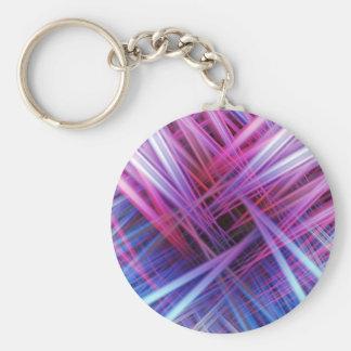 Modelo púrpura y azul de los haces luminosos llavero redondo tipo pin