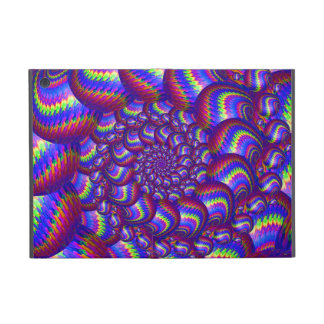 Modelo púrpura y azul del fractal de las bolas iPad mini coberturas