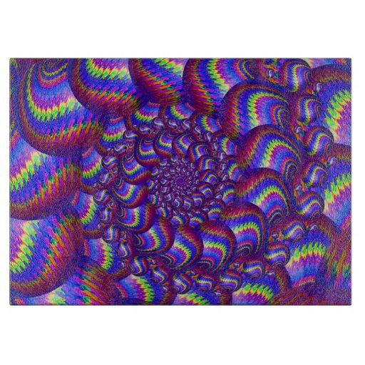 Modelo púrpura y azul del fractal de las bolas tablas de cortar