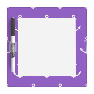 Modelo púrpura y blanco 1 de las anclas pizarras
