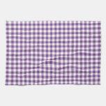 Modelo púrpura y blanco de color violeta oscuro de toalla de cocina