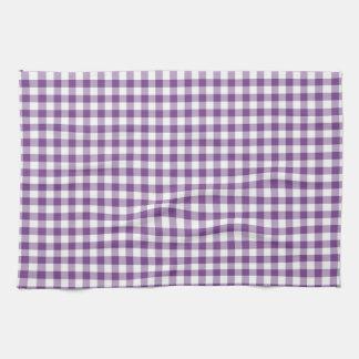 Modelo púrpura y blanco de color violeta oscuro de toallas